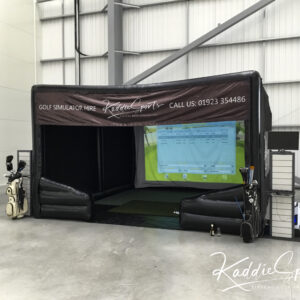 inflatable golf simulator for hire