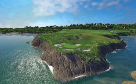 Pebble Beach Hole 7 FSX Software
